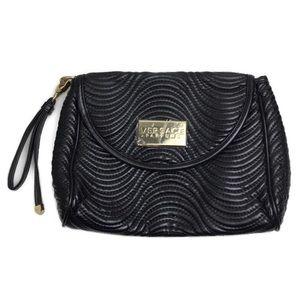 Versace Parfums Quilted Textured Wristlet / Clutch